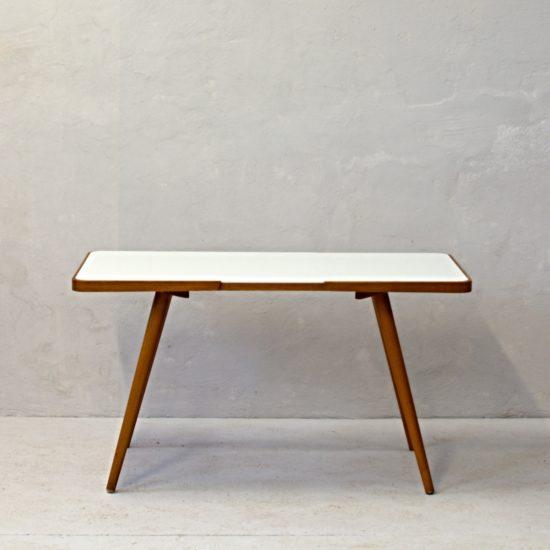 konferenční stolek s bílou deskou československý retro nábytek