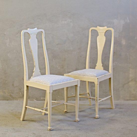 krémové anglické židle ke stolu dropleaf po částečné renovaci
