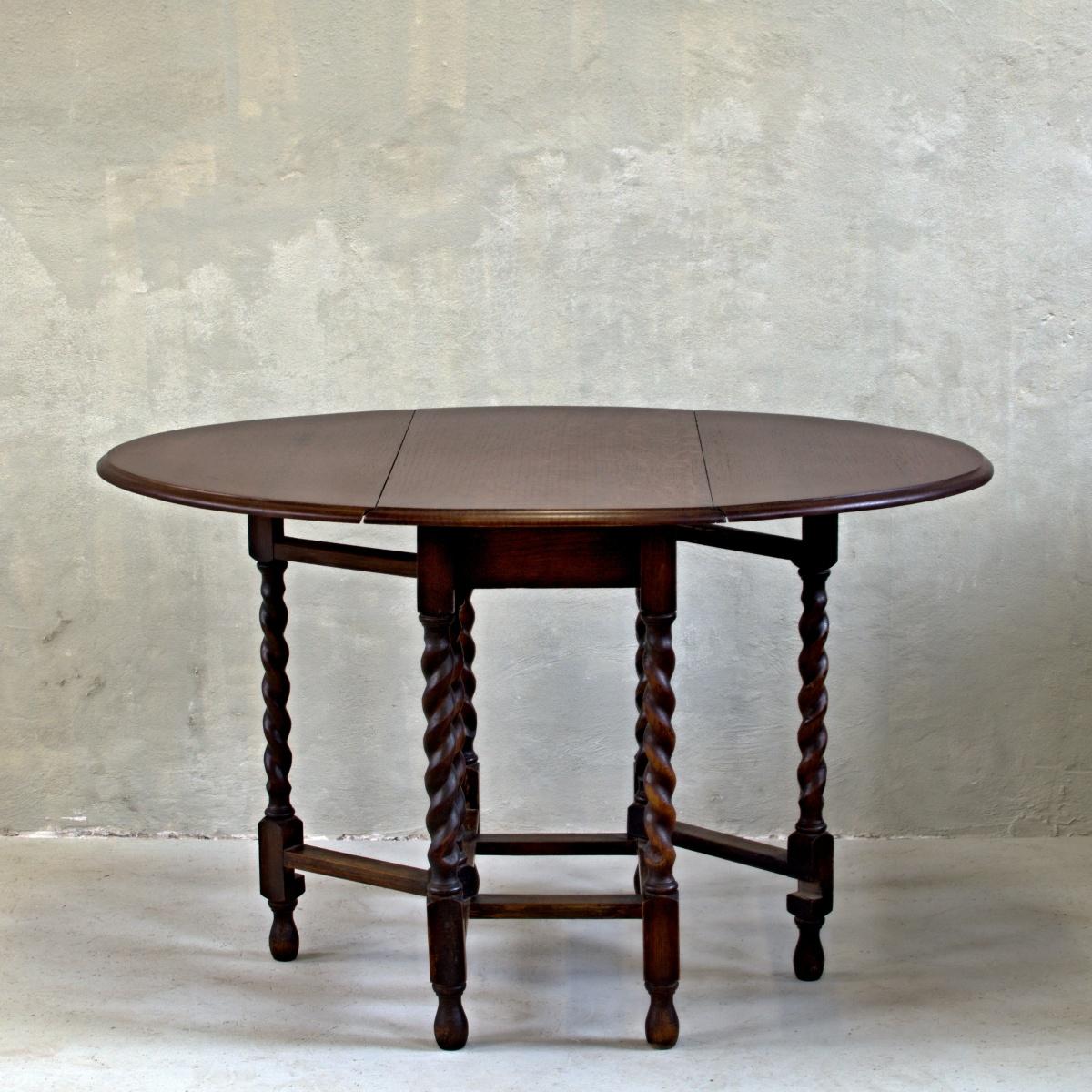 oválný rozkládací stůl barley twist anglický stylový vintage nábytek po celkové renovaci oživeno