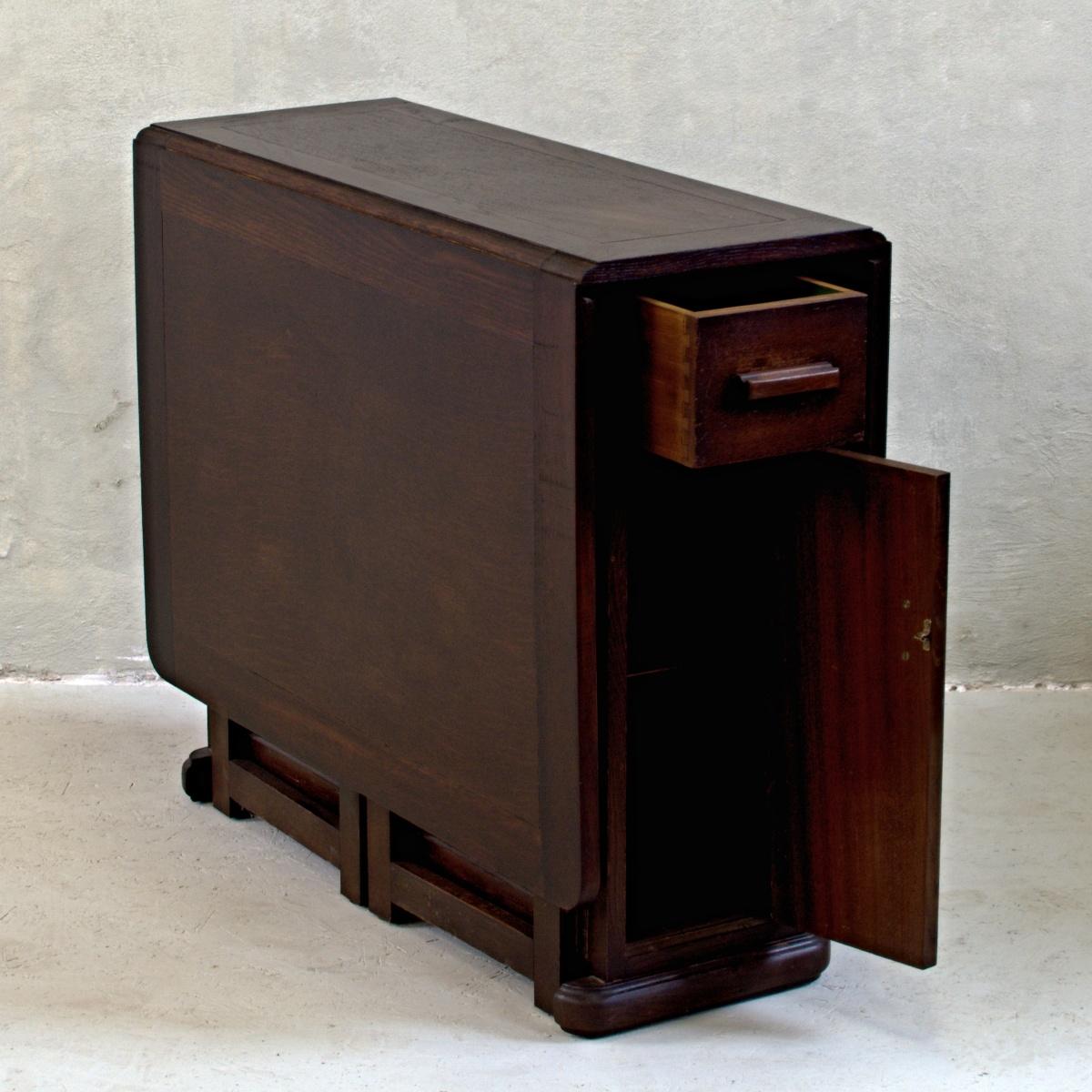 rozkládací stůl dropleaf s úložným prostorem anglický stylový vintage nábytek