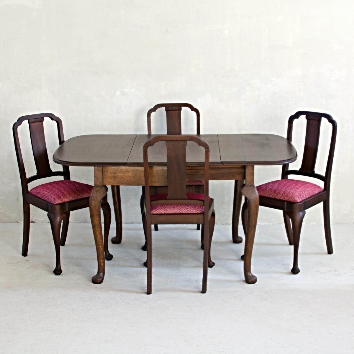 Stůl královna Anna se 4 židlemi 1