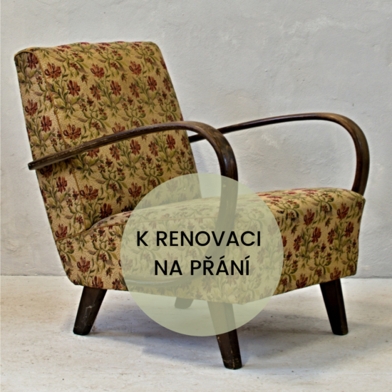 dva halabala fešáci k renovaci křesla československé retro před renovací