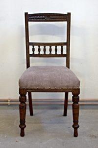 enovace židle vyřezávané opěradlo židle z masivu anglická židle