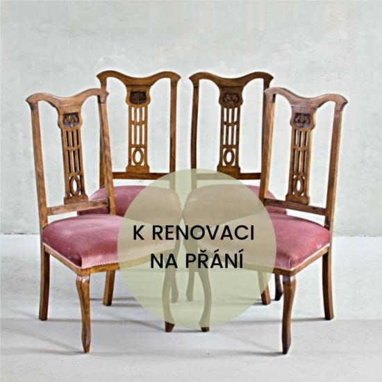 Anglické židle s ornamentem