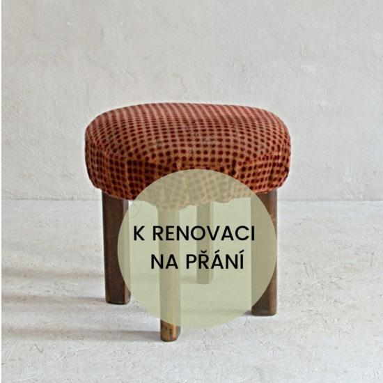 Podnožka taburet k renovaci oživeno