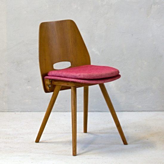 retro židle tatra růžová odnímatelný polštářek