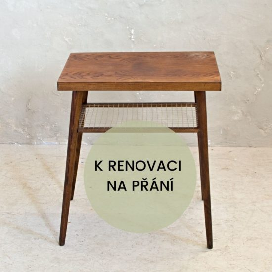 retro odkládací stolek k renovaci