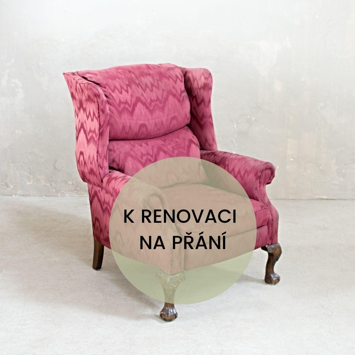 Retro rozkládací křeslo k renovaci