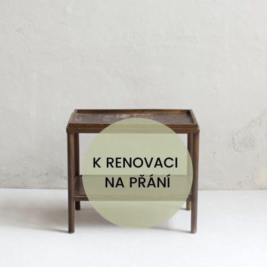 Renovace nábytku v Praze servírovací stolek
