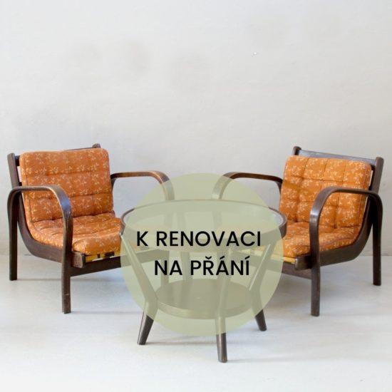 Renovace retro nábytku Koželka a Kropáček křesla a stolek
