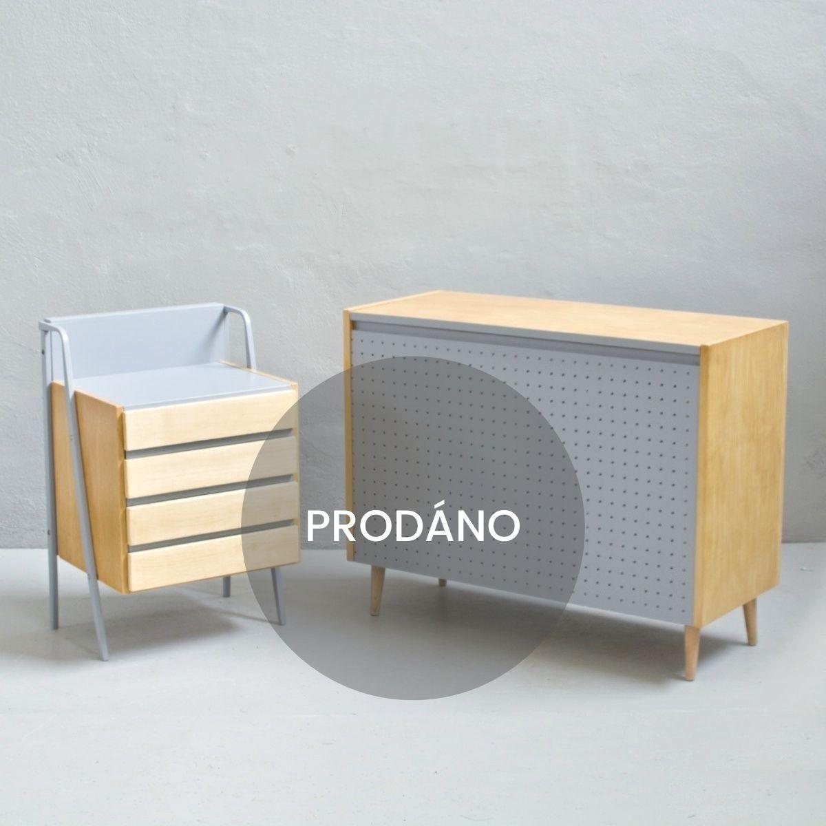 Prodej retro nábytku retro komoda a peřiňák