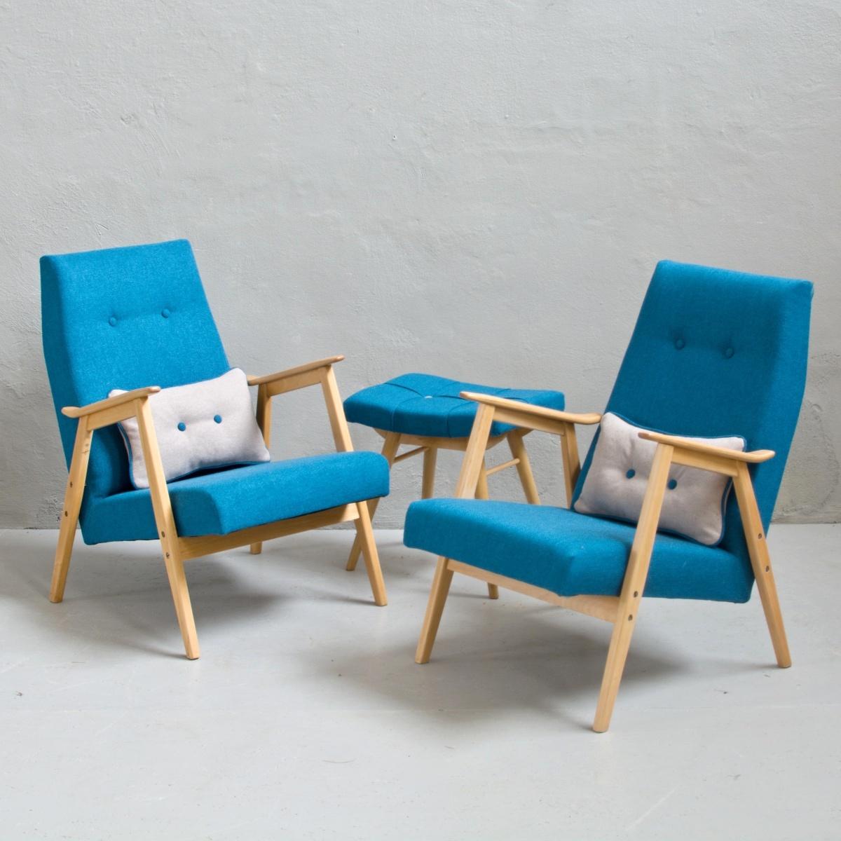 Prodej retro nábytku retro křesla s podnožkou
