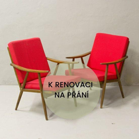 Renovace retro nábytku Praha retro křesílka