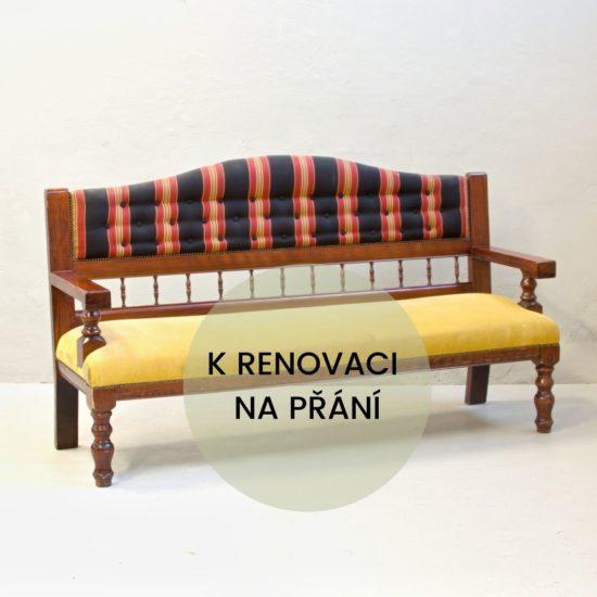Renovace anglického nábytku anglická sedačka