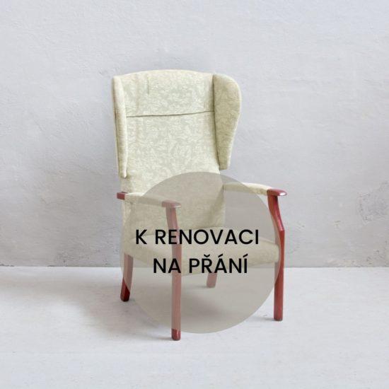 Renovace vintage nábytku vintage křeslo ušák