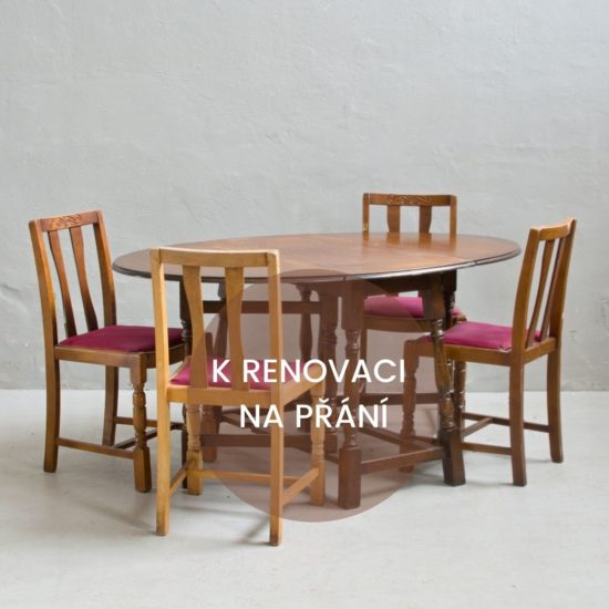 Renovace anglického nábytku anglický stůl a židle