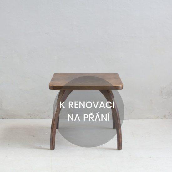 Renovace retro nábytku Halabala retro stolek