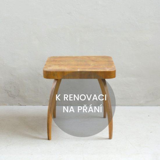 Renovace retro nábytku retro Halabala stolek