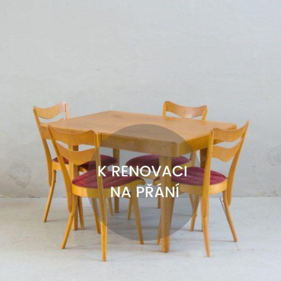 Renovace retro nábytku retro stůl a židle