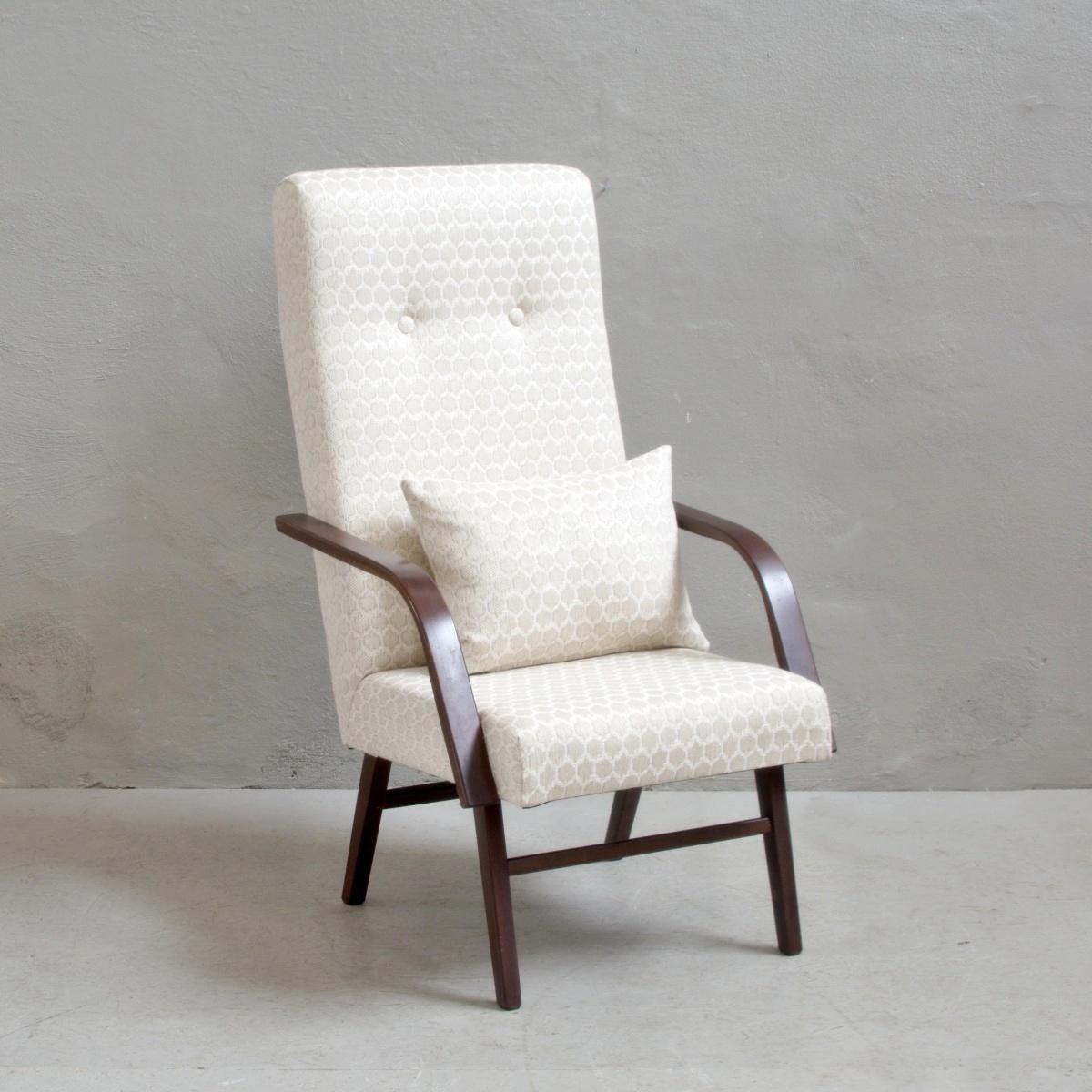 Prodej retro nábytku retro křeslo s polštářem